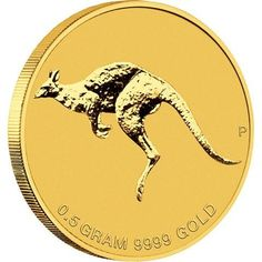 """Australian 2010 solid Gold Coin """"Kangaroo"""" Mini Roo Nugget PP Coin Auctions, Gold Money, Gold And Silver Coins, Mint Coins, Australian Animals, World Coins, Precious Metals, Perth, Reptiles"""