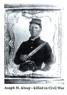 Asaph Hill ALSUP (1840-1864) 18th Tennessee Infantry Regiment, Company I, private, born Wilson co., Tenn., died Lagrange, GA Feb 1 1864.