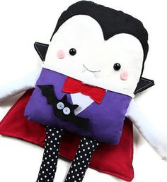 Halloween Sewing Pattern - Toy Vampire Dracula Doll & Cape Sewing Pattern - PDF Sewing Pattern. $10.00, via Etsy.