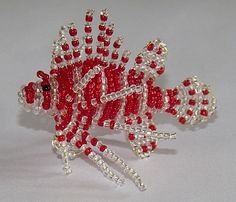 scorpion fish 3D beaded PATTERN, scroll down, other 3D patterns on site also