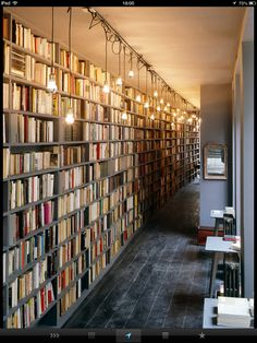Used Book Cafe at the concept store Merci. Le Marais, Paris...inspiration for your Paris vacation from Paris Deluxe Rentals