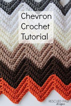 Chevron Single Crochet in the Back Loop Tutorial via Rescued Paw Designs