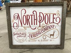 North Pole Trading Company Farmhouse Sign Holiday Decor Christmas Pallet Signs, Holiday Signs, Christmas Wood, Primitive Christmas, Christmas Projects, All Things Christmas, Holiday Crafts, Christmas Holidays, Christmas Decorations