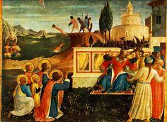 The Athenaeum - Saint Cosmas and Saint Damian Salvaged (San Marco Altarpiece) (Fra Angelico - )