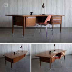 midcentury modern 8u0027 wide curved executive desk hutch has curated in omaha