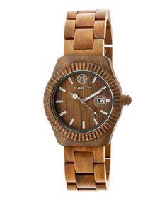 Look at this #zulilyfind! Olive Pith Wood Bracelet Watch #zulilyfinds