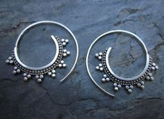 Tribal Spiral Hoops by SBJewelry on Etsy, $ 55.