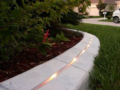 landscaping with curbing | Integrated KerbLight gives a whole new look to your garden at night ...