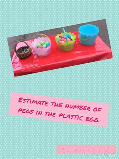 Find a plastic egg and estimate how many pegs are hidden inside – Celebrations Easter Activities, Spring Activities, Pancake Day, Plastic Eggs, Messy Play, Spring Theme, Eyfs, Celebrations, Continuous Provision