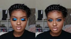 Blue Smokey Eye Holiday Makeup Tutorial | Shanny Stephens