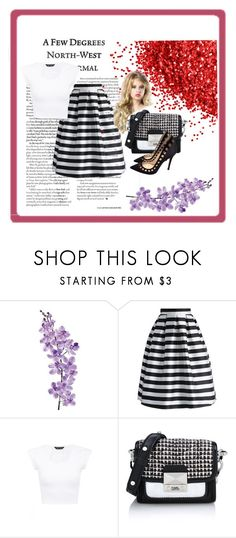 """Stripes"" by dinka1-749 ❤ liked on Polyvore featuring Laura Cole, Chicwish, Karl Lagerfeld and Gianvito Rossi"