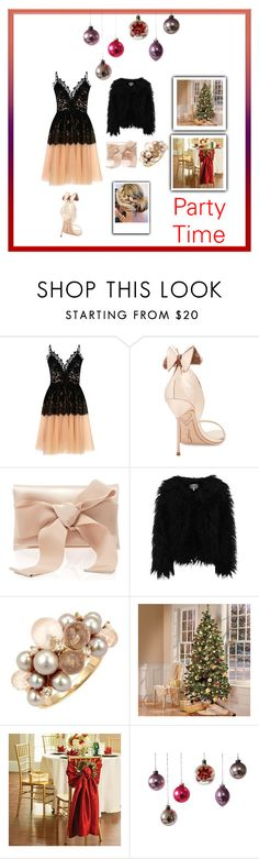 """""""Party Time"""" by miracle-child-1 ❤ liked on Polyvore featuring True Decadence, Sophia Webster, Oscar de la Renta, Dry Lake and Improvements"""