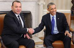 King Mohammed VI with President Barack Obama of The United States