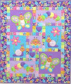 Quilts for Boys Patterns | quantity 0 1 2 3 bugsy by kids quilts 44x52 absolutely adorable quilt ...