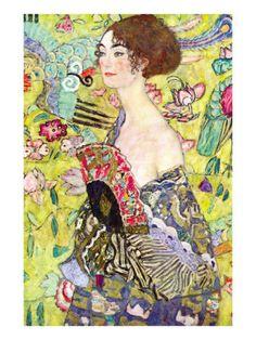 Lady with a Fan Foto van Gustav Klimt bij AllPosters.nl