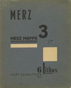 Kurt Schwitters. Portfolio cover from Merz 3. Kurt Schwitters 6 Lithos. Merz Portfolio. First Portfolio of the Merz Publisher (Merz 3. Kurt Schwitters 6 Lithos. Merz Mappe. Erste Mappe des Merverlages). 1923