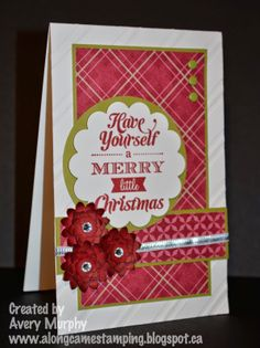 Along Came Stamping: First Christmas Card of 2014 - Mojo347 #StampinUp #MerryLittleChristmas