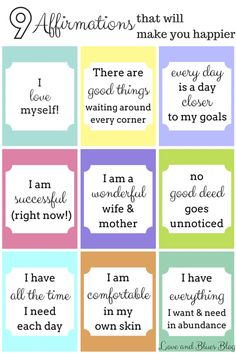 In the negative world we live in, it can be hard to be self-positive. It's even harder for moms and wives. Here are some daily affirmations to help!