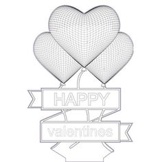 Heart with flower 3d illusion lamp vector file for CNC - 3bee-studio