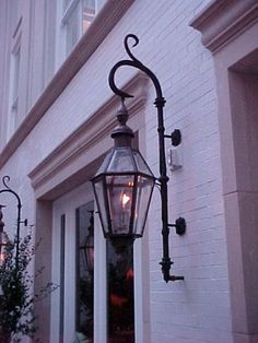Lovely copper exterior light for a Mediterranean style home with