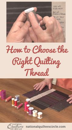 Heather Thomas teaches you all about thread while providing helpful tips and techniques for working with thread. Learn the many types of thread available as well as the many brands and weights of thread. Understand the value of thread and add element to your quilts. Find out all you need to know about thread and how you can utilize thread when making your beautiful quilts. Quilting Thread, Patchwork Quilting, Quilting Tips, Quilting Tutorials, Quilting Projects, Quilting Designs, Sewing Projects, Sewing Tips, Sewing Tutorials
