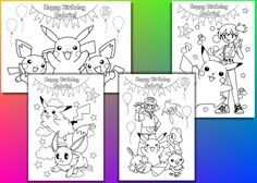 This product - Pokemon Birthday Party coloring pages, activity, Personalized, PDF file.  This listing is for a printable PDF file of the birthday coloring pages. These coloring pages are perfect to keep the kids busy. Perfect for Birthday party favors, or other events. We will personalize it and email the PDF file to you.(No tangible item will be sent). Print as many as you need for your event.   INFO we need from you: 1. Childs first name: 2. Which birthday? (Ex: 5th birthday)  You will…