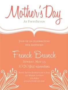 Mother's Day Event Flyer #diy
