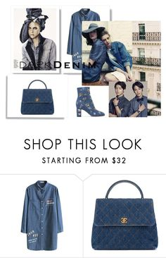 """""""Styling in denim"""" by cinnamonrose30 ❤ liked on Polyvore featuring Chanel and Valentino"""