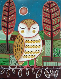 White Owl by Karla Gerard