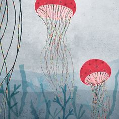 marin  jellyfish by aliette on Etsy, $24.00
