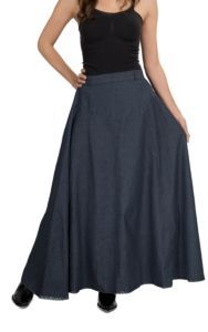 Crazy Cowgirl Women's A Line Long Denim Skirt | Cavender's   Ummm.... I need this!!!