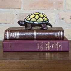 """2.5""""H Tiffany Style LED Turtle"""