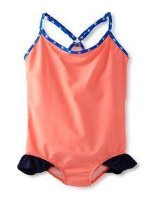 Lunchbox Swim Girl's One Piece Racerback Swimsuit