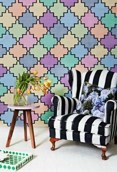 hanflor pvc tile vinyl plank anti-slip water proof flooring granite looking slate long-lasting sound absorption Blue Hydrangea, Hydrangeas, Blue Cushions, Homewares Online, Take A Seat, Soft Furnishings, Art Decor, Home Decor, Colorful Interiors