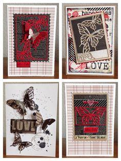 Die schlichte Karte: Butterfly Cards