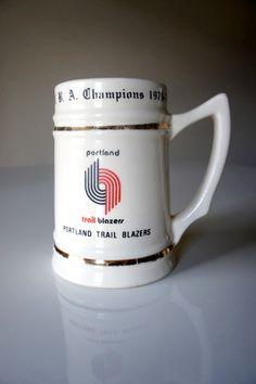 vintage Portland Trailblazers championship mug