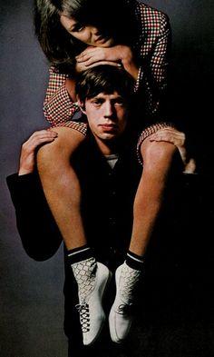 Chrissie Shrimpton Mick Jagger, 1960's:  by David Bailey, Vogue