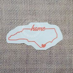 Raleigh North Carolina NC Vinyl Decal With Heart Love State - Custom vinyl decals raleigh