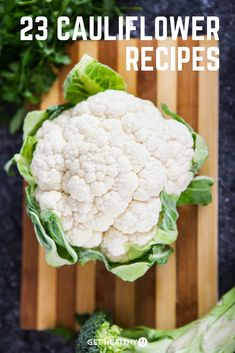 Check out these 23 low-carb recipes that will help you incorporate cauliflower into your diet! Cauliflower is a great replacement for typical carbs and is SUPER healthy! #cauliflower #cauliflowerrecipes
