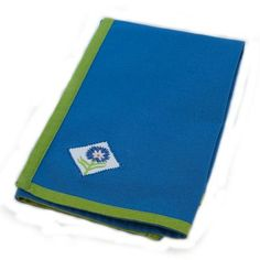 Rennie & Rose Design Group Susan Sargent Marigold Napkin (Set of 2) Color: Royal Blue/Medium Green
