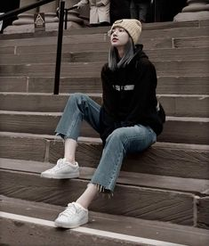 10 Best Boyish Yet Stylish Look of Lisa Blackpink Blackpink Fashion, Korean Fashion, Fashion Outfits, Boyish Style, My Style, Boyish Outfits, Lisa Blackpink Wallpaper, Black Pink Kpop, Blackpink Photos