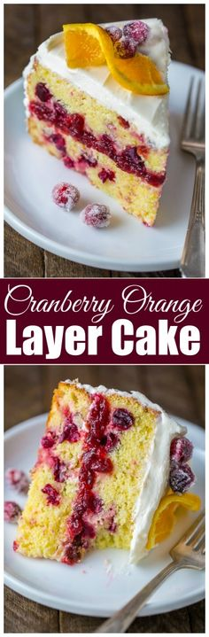 This Cranberry Orange Layer Cake is perfect for the holiday baking season!!!