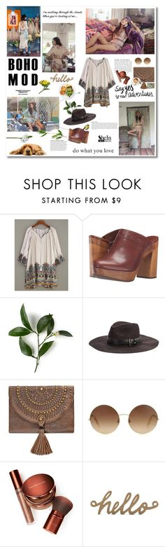"""BOHO STYLE SHEIN!"" by minojka ❤ liked on Polyvore featuring Spell & the Gypsy Collective, Frye, Anja, Patricia Nash, Victoria Beckham, Bare Escentuals, dress, boho and shein"