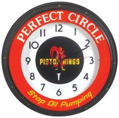 Perfect Circle Piston Rings-Stop Oil Pumping neon clock