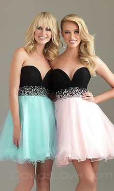 Baby doll Strapless Short Tulle Prom Dress