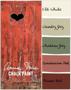 COLORWAYS Valentine color scheme in Annie Sloan Chalk Paint