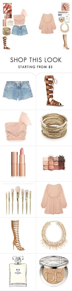 """Mom Made Outfits 2"" by gamerskitchenofficial on Polyvore featuring RE/DONE, Nine West, RED Valentino, Sole Society, tarte, LoveShackFancy, Vince Camuto, Chanel, Christian Dior and Urban Decay"