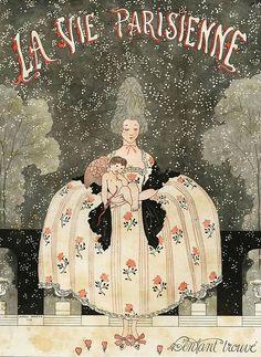 Illustration by George Barbier For La Vie Parisienne 1918