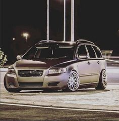 Matte wrapped V50 with a low stance. Artur Maksimovich's car?