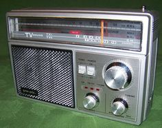 TV Band - Wow! Silver for the GPX Silver Anniversary -- Vintage 70's Gran Prix 320 Multi Band Portable Radio Am FM TV WB Weather Band